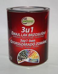 3 az 1 ben Zománcfesték ezüst 0,75l